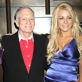 Hugh Hefner, Crystal Harris in Playboy Playmate Claire Sinclair Guest Stars at The Crazy Horse Paris