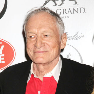 Hugh Hefner in Playboy Playmate Claire Sinclair Guest Stars at The Crazy Horse Paris