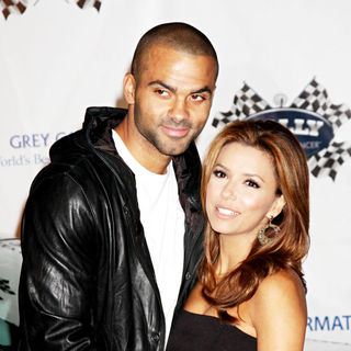 Tony Parker, Eva Longoria in 'Rally for Kids with Cancer' Kick-Off Party 2010