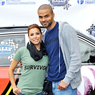Eva Longoria, Tony Parker in 'Rally for Kids with Cancer Scavenger Hunt 2010'