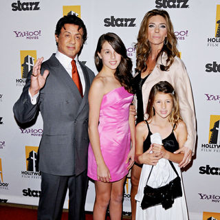 Sylvester Stallone, Jennifer Flavin in 14th Annual Hollywood Awards Gala Presented by Starz