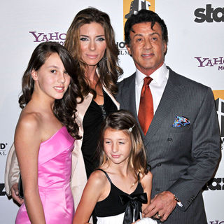 Jennifer Flavin, Sylvester Stallone in 14th Annual Hollywood Awards Gala Presented by Starz
