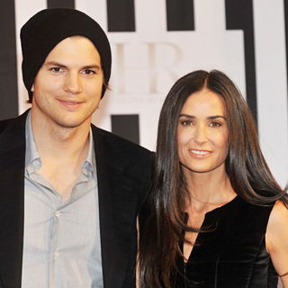 Ashton Kutcher, Demi Moore in A Charity Gala Interview at Buehne Pluscity Shopping Centre in Linz Pasching
