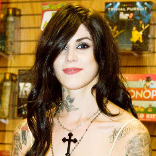 "Kat Von D in Kat Von D Book Signing for Her Illustrated Diary ""The Tattoo Chronicles"""