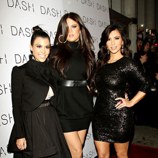 Kourtney Kardashian, Khloe Kardashian, Kim Kardashian in The Grand Opening of Dash NYC