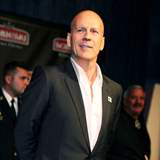 Bruce Willis in Vodka Brand 'Sobieski' Hold An Event to Salute Troops and Veterans