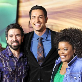 Joshua Gomez, Zachary Levi, Yvette Nicole Brown in Disney's 'Tangled' Los Angeles Premiere - Arrivals