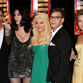 "Peter Gallagher, Cher, Christina Aguilera, Steve Antin, Julianne Hough in Los Angeles Premiere of ""Burlesque"""