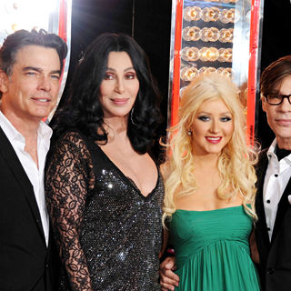 "Peter Gallagher, Cher, Christina Aguilera, Steve Antin in Los Angeles Premiere of ""Burlesque"""