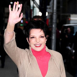 Liza Minnelli in Celebrities Outside The Ed Sullivan Theater for 'The Late Show with David Letterman'