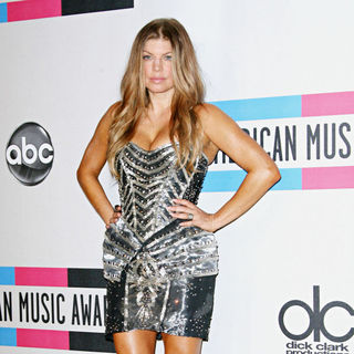 Stacy Ferguson in 2010 American Music Awards - Press Room
