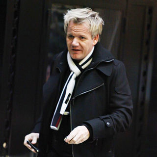 Gordon Ramsay Arriving at The Savoy Hotel