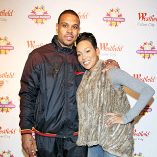 Shannon Brown, Monica in Shannon Brown Celebrates His 25th Birthday at Millions of Milkshakes