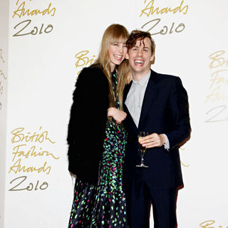 Edie Campbell, Johnny Borrell in The British Fashion Awards 2010 - Arrivals