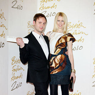 Nicholas Kirkwood, Claudia Schiffer in The British Fashion Awards 2010 - Arrivals