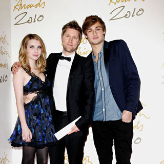 Emma Roberts, Christopher Bailey, Douglas Booth in The British Fashion Awards 2010 - Arrivals