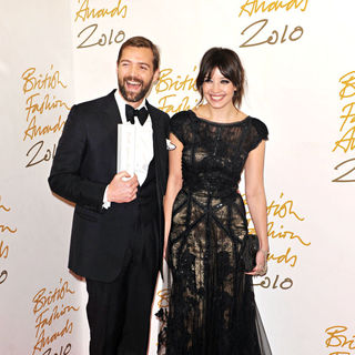 Patrick Grant, Daisy Lowe in The British Fashion Awards 2010 - Arrivals