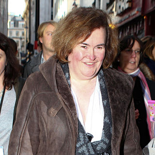 Susan Boyle in Susan Boyle Outside The London Palladium
