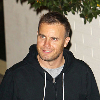 Gary Barlow in Gary Barlow Leave The Studio After 'The X Factor Final'