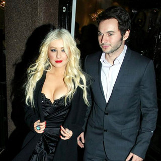 Christina Aguilera, Matt Rutler in Christina Aguilera and Matt Rutler Leave The Stephen Webster Jewlery Store