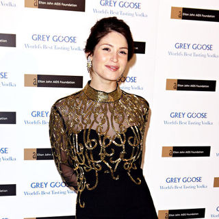 Gemma Arterton in The Elton John AIDS Foundation Winter Ball
