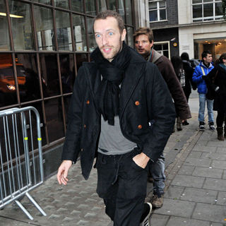 Chris Martin, Coldplay in Chris Martin Outside The BBC Radio 1 Studios