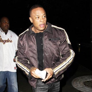 Dr. Dre in Dr. Dre Arrives at The Staples Centre to Watch The LA Lakers Play The Milwaukee Bucks
