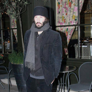 Keanu Reeves in Keanu Reeves Leaving His Hotel