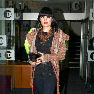 Jessie J Leaves The BBC Radio 1 Studios After Performing in The Live Lounge