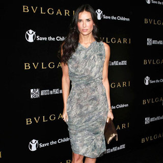 Demi Moore in Bvlgari Private Event Honoring Simon Fuller and Paul Haggis to Benefit Save The Children