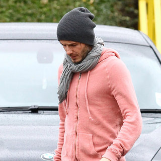 David Beckham in David Beckham Leaving After Training with Tottenham Hotspur