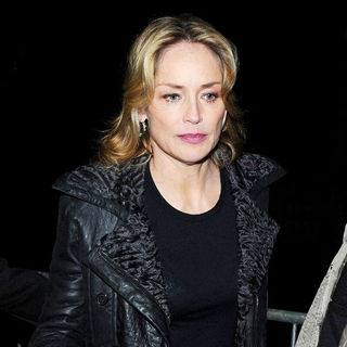 Sharon Stone in Sharon Stone Arrives at A Television Studio Ahead of Her Appearance on 'Champs Elysees' TV Talk Show