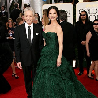 Michael Douglas, Catherine Zeta-Jones in 68th Annual Golden Globe Awards - Arrivals