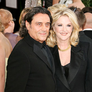 Ian McShane, Gwen Humbl in 68th Annual Golden Globe Awards - Arrivals