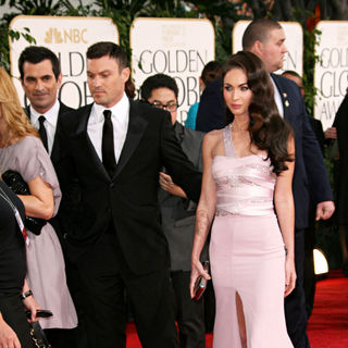 Brian Austin Green, Megan Fox in 68th Annual Golden Globe Awards - Arrivals