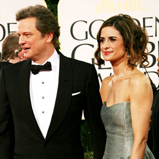 Colin Firth, Livia Giuggioli in 68th Annual Golden Globe Awards - Arrivals