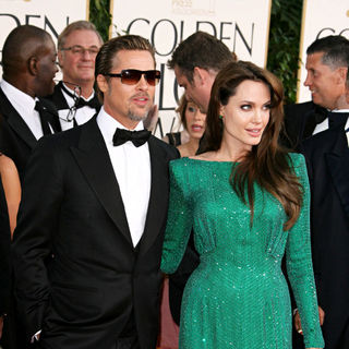 Brad Pitt, Angelina Jolie in 68th Annual Golden Globe Awards - Arrivals