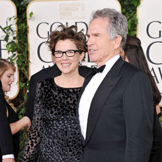 Annette Bening, Warren Beatty in 68th Annual Golden Globe Awards - Arrivals