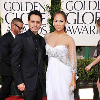 Marc Anthony, Jennifer Lopez in 68th Annual Golden Globe Awards - Arrivals