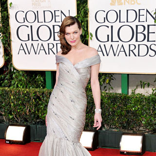 Milla Jovovich in 68th Annual Golden Globe Awards - Arrivals