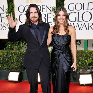 Christian Bale, Sibi Blazic in 68th Annual Golden Globe Awards - Arrivals