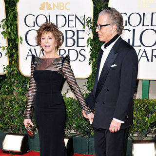 Jane Fonda, Richard Perry in 68th Annual Golden Globe Awards - Arrivals