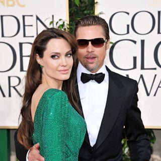 Angelina Jolie, Brad Pitt in 68th Annual Golden Globe Awards - Arrivals