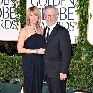Kate Capshaw, Steven Spielberg in 68th Annual Golden Globe Awards - Arrivals