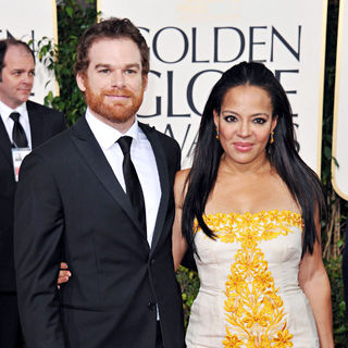 Michael C. Hall, Lauren Velez in 68th Annual Golden Globe Awards - Arrivals
