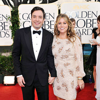 Jimmy Fallon, Nancy Juvonen in 68th Annual Golden Globe Awards - Arrivals