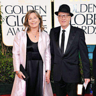 Jane Menelaus, Geoffrey Rush in 68th Annual Golden Globe Awards - Arrivals