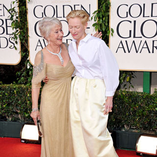 Helen Mirren, Tilda Swinton in 68th Annual Golden Globe Awards - Arrivals