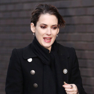 Winona Ryder in Winona Ryder Outside The ITV Studios