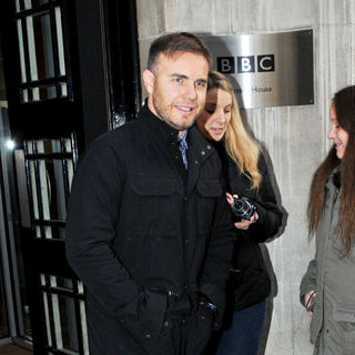 Gary Barlow in Gary Barlow Leaving The BBC Radio 2 Studios The Day Before His 40th Birthday